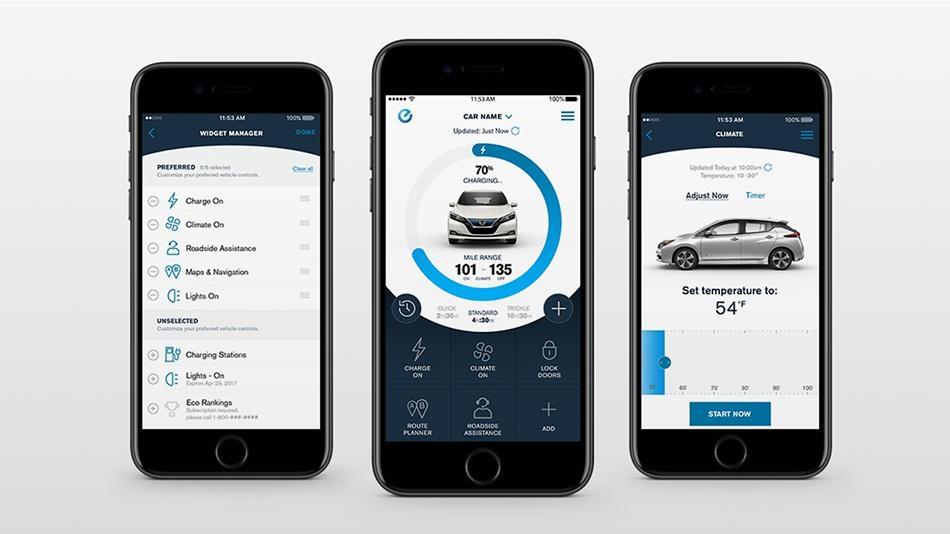 Nissan connect ev app